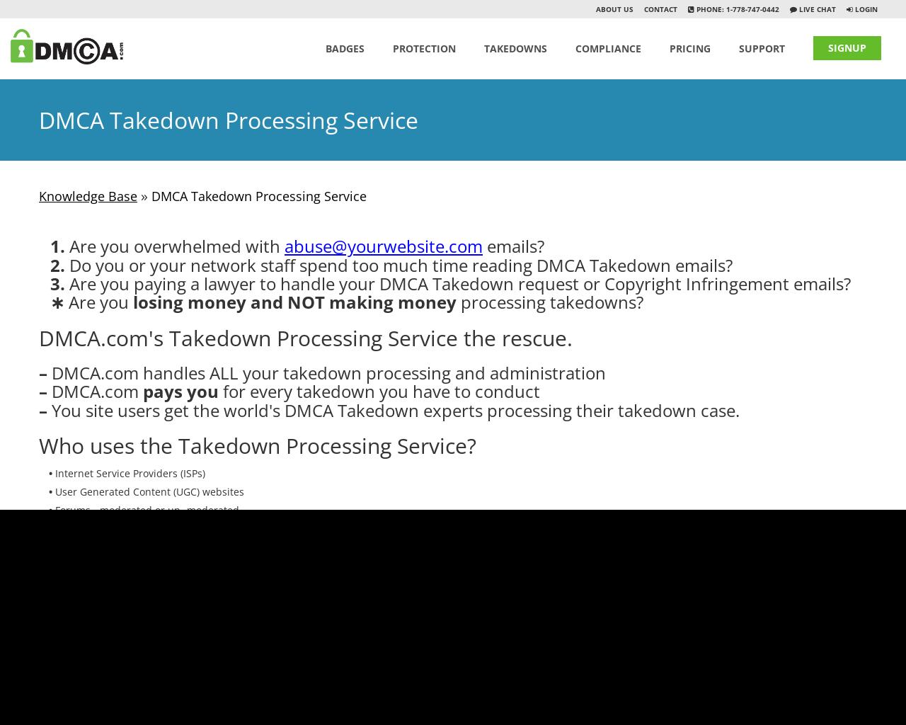 Dmca Takedown Processing Service
