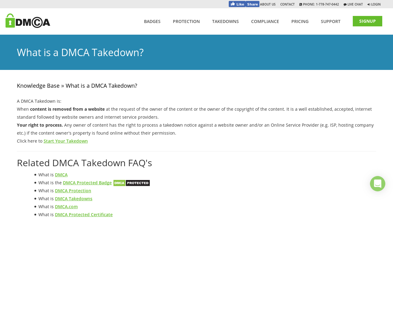 what is a dmca takedown