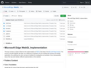 MicrosoftEdge/WebGL